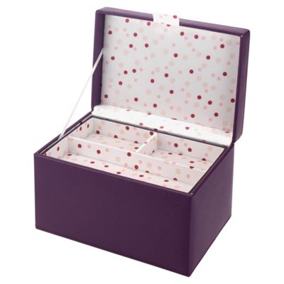 LC Purple Medium Jewellery Box