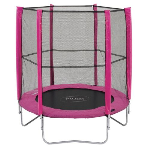 Plum 6ft Trampoline & Enclosure, Pink