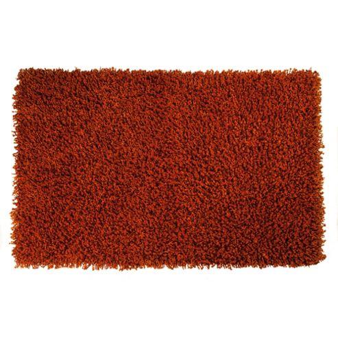 Tesco Rugs Orbit Shaggy 150X240Cm Burnt Orange