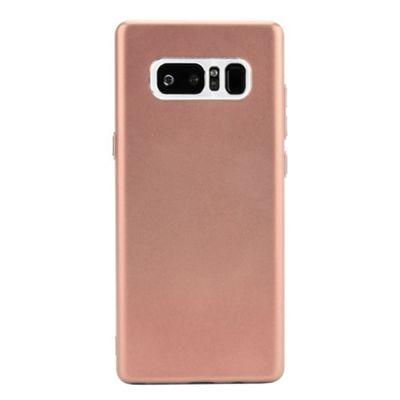 Samsung Galaxy Note 8 Matte Metallic Slimline Soft Flexi TPU Phone Case - Pink