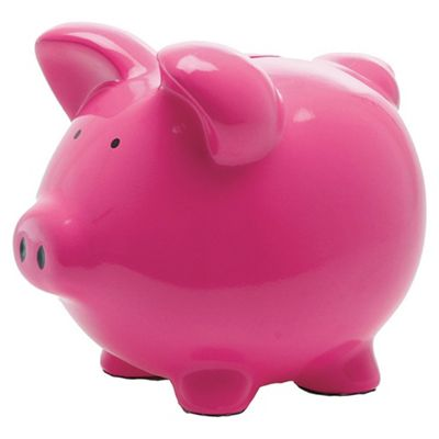 Present Time Moneybank Pig Ceramic pink