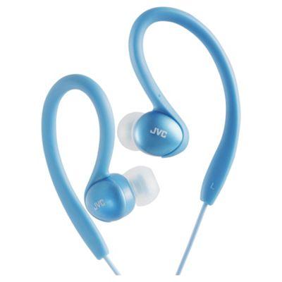 JVC Splash Proof Sports Headphone Blue HAEBX85AN