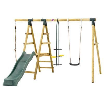 Plum Meerkat Wooden Garden Swing and Climbing Frame