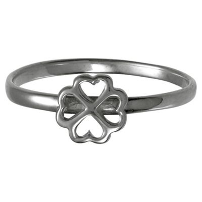 Sterling Silver 4 Leaf Clover Stacking Ring, Small