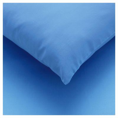 Tesco twin pack pillowcase - Sea Blue