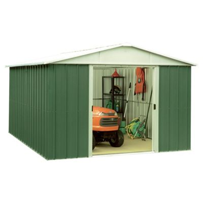 Yardmaster 9'4x9'4 Metal Apex Shed with floor support frame