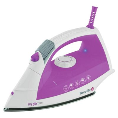Breville VIN207 Stainless Steel Plate Steam Iron - White