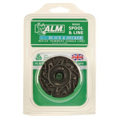 ALM Filled Spool for BLACK+DECKER single line Reflex Grass Trimmers, 2 pack