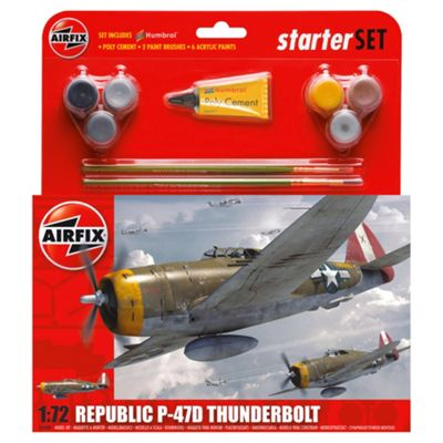Airfix P-47D Thunderbolt 1:72 Scale Cat 2 Gift Set