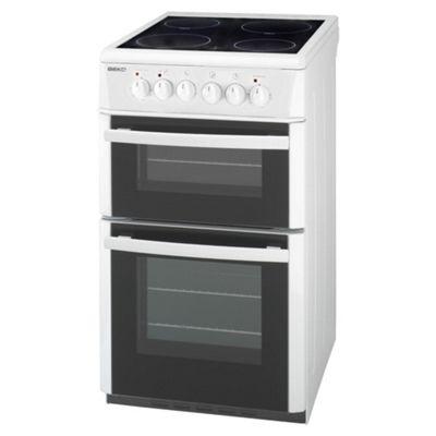Beko DVC563W White Electric Ceramic Double Oven
