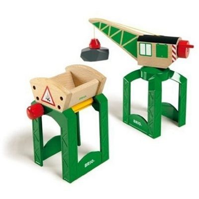 Brio Classic Accessory Crane & Funnel Load Wooden Toy