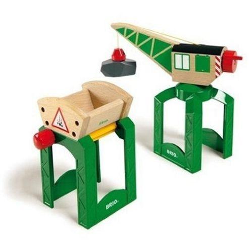 Brio Classic Accessory Crane & Funnel Load Wooden Toy