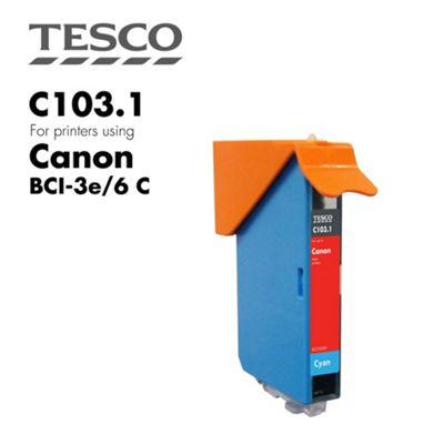 Tesco BCI3/6 Cyan Printer Ink Cartridge (for Canon BCI-3/6 Cyan )