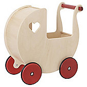 Moover Wooden Dolls Pram Natural
