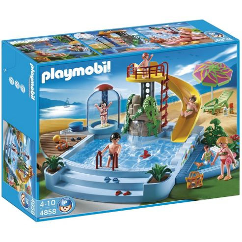Playmobil 4858 Pool with Water Slide Playset