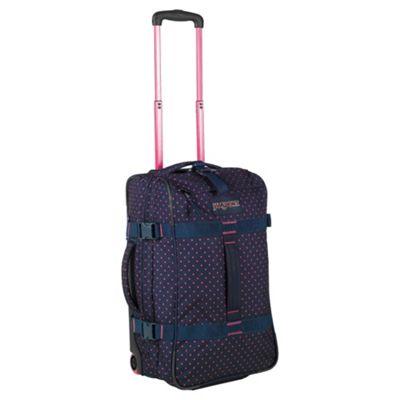 Jansport Footlocker 2-Wheel Duffle Bag Suitcase, Navy
