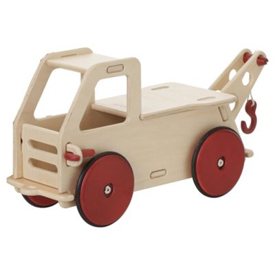 Moover Baby Wooden Toy Truck, Natural