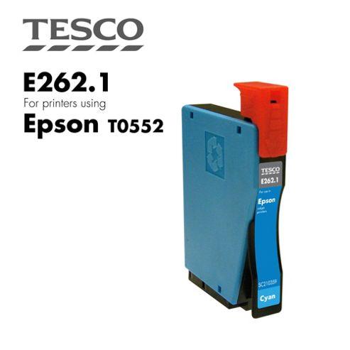 Tesco T0552 Cyan Printer Ink Cartridge (for Epson T 0552 Cyan )