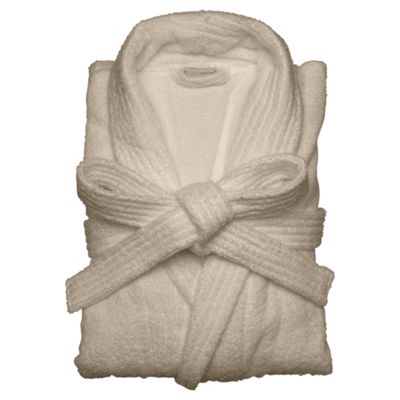 Finest towelling robe Taupe S/M