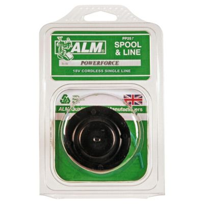 ALM Filled Spool for Powerforce 18V Cordless single line Grass Trimmer, 2 pack