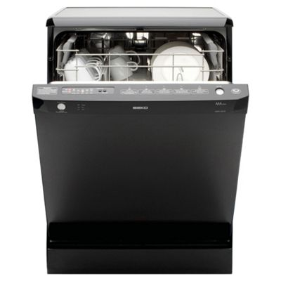 Beko DSFN1530B Full Size Dishwasher, A Energy Rating. Black