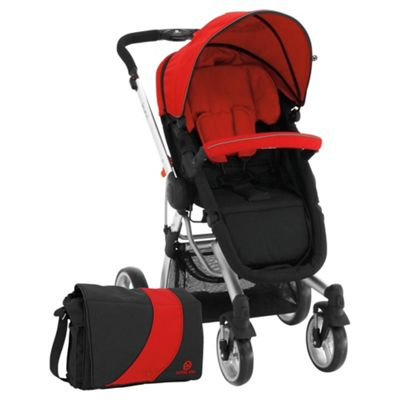 Petite Star Kurvi Match Pushchair, Red