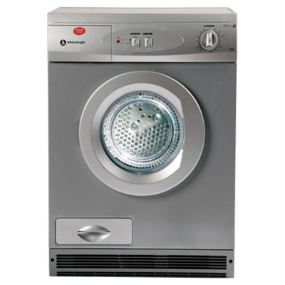 White Knight 77AS Condenser Tumble Dryer, 7kg Load, C Energy Rating. Silver