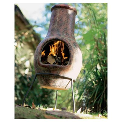 La Hacienda Plain Clay Chiminea, Burnt Red