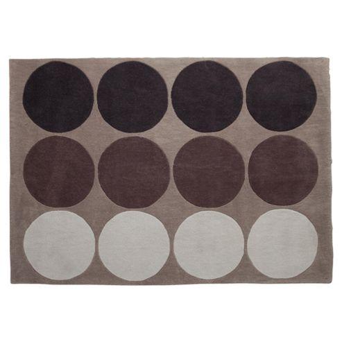 Tesco Rugs Circles Rug 120X170Cm Mocha