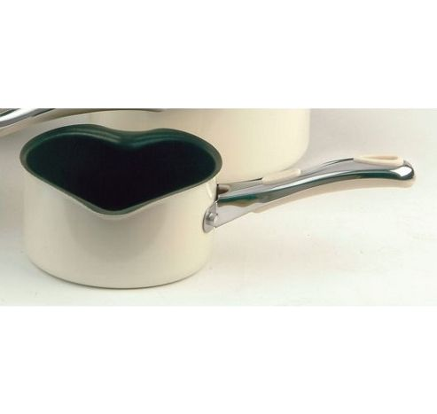 Meyer Select 14cm Non-stick Milk Pan, Almond