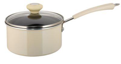 Prestige 18cm Non-stick Saucepan, Almond