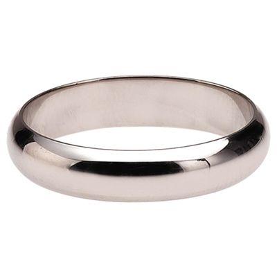 Sterling Silver Ladies 3mm D Shape Wedding Ring, N
