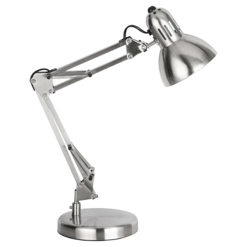 Tesco Lighting Retro Desk Lamp, Brushed Chrome
