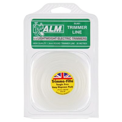 ALM Trimmer Line for all lightweight electric grass trimmers - 1.3mm x 30m, 2 pack