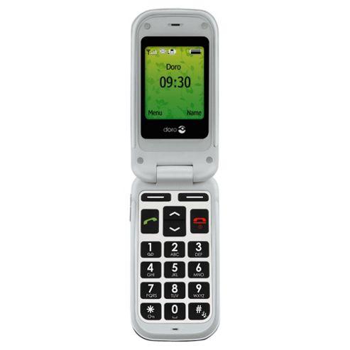Tesco Mobile Doro Phone Easy 409s Black & White