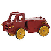 Moover Wooden Dump Truck Ride-On, Red
