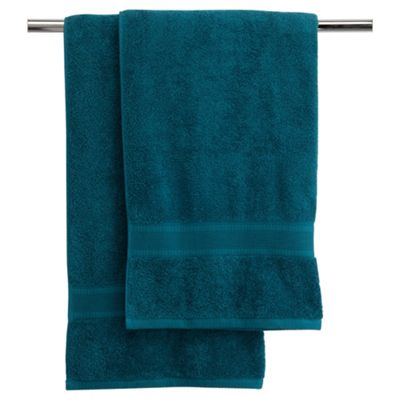 Finest Pair Of Bath Towels Teal