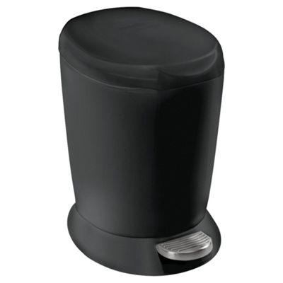 simplehuman 6 Litres Mini Plastic Pedal Bin - Black