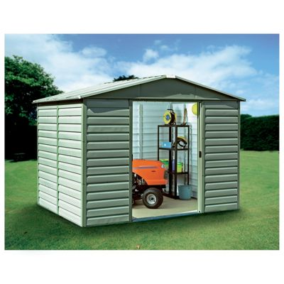 Yardmaster 9'4x7'5 Metal Shiplap Shed with floor support frame