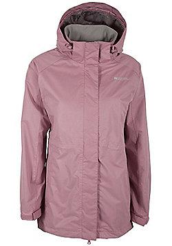 Omega Womens Waterproof Long Walking Hiking Hooded Jacket Coat - Pink