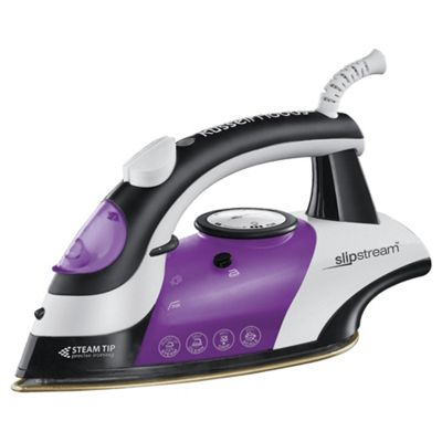 Russell Hobbs 15202 Steam Generator with Ceramic Plate - Black/Purple