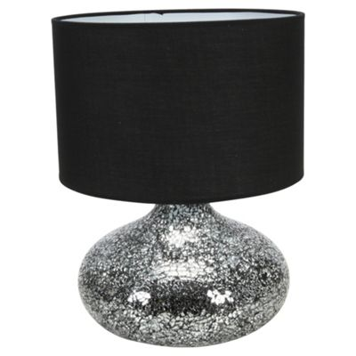 Buy signa mosaic black silver table lamp large from our table signa mosaic black silver table lamp large mozeypictures Gallery