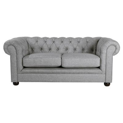 Chesterfield Linen Small Sofa, Silver
