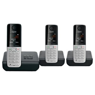 Gigaset C300A Triple Cordless Phone Set with Answer Machine