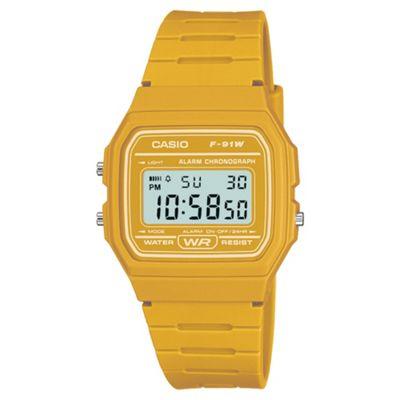 Casio Yellow Retro Digital Watch