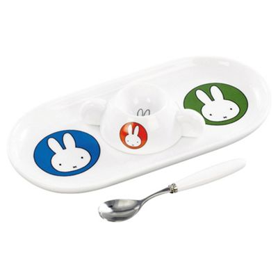 Miffy Snack Set - Plate, Egg Cup & Spoon