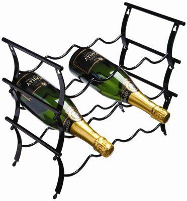 George Wilkinson 12 Bottle Winestak - Black