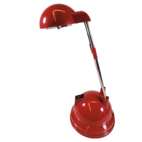 Tesco Lighting Tina halogen desk lamp red
