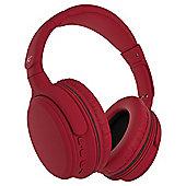 KitSound Slammers Wireless Headphones Red