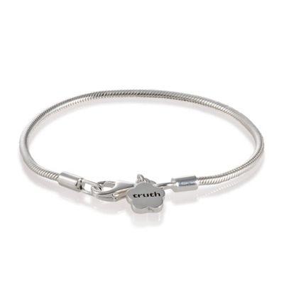 Truth Cutie Sterling Silver Drop Flower Bracelet, 15cm